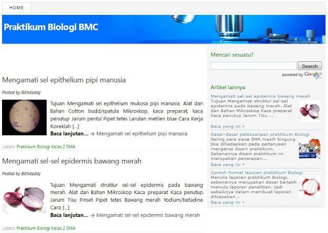 Praktikum Biologi : blog pendukung BMC